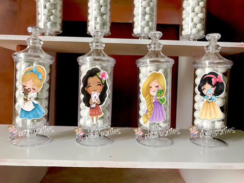 Classic Disney Princess Theme Apothecary Favor Jars