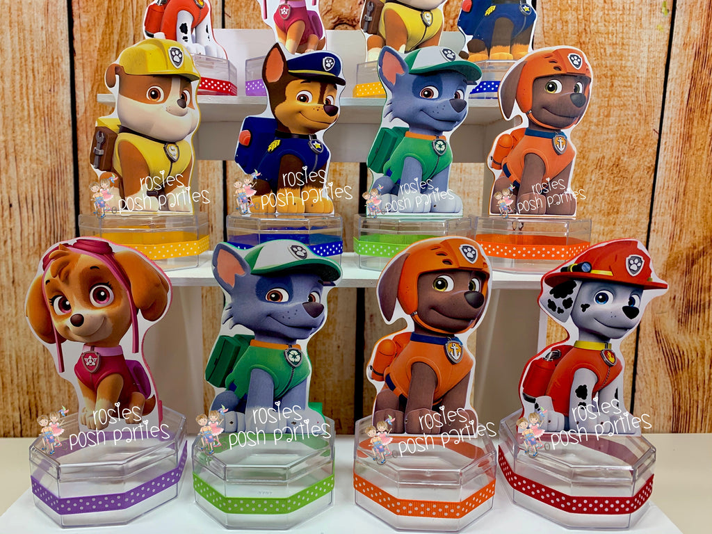 Paw Patrol Birthday Theme Candy Favor Set Of 12 Rosie S Posh Parties
