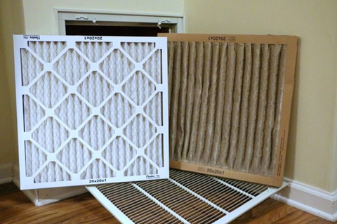 Clean vs Dirty HVAC Filter