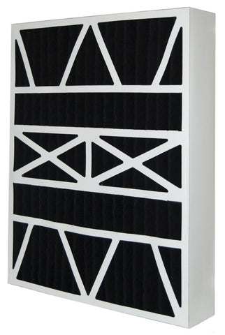 20x25x6 Air Filter Home White Rodgers Carbon Odor Block