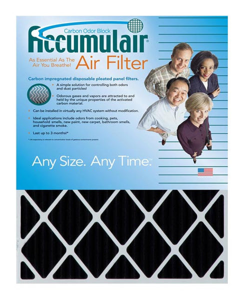 14x25x2 Accumulair Furnace Filter Carbon