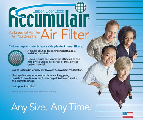20x20x2 Air Filter Home Carrier Carbon Odor Block