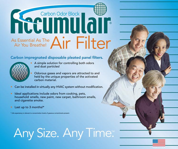 20x20x1 Air Filter Home Carrier Carbon Odor Block