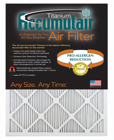 10x25x1 Accumulair Furnace Filter APR 2250