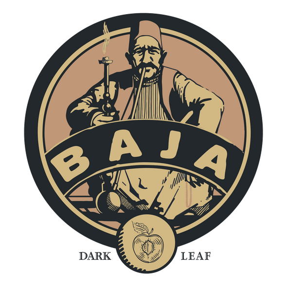 Baja Dark Leaf Aged Tobacco Dirty Peach - - Shishamore.com
