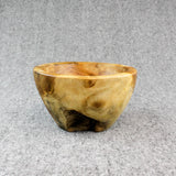 Teak root burly rice bowl viewed from the front
