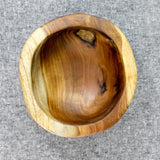Teak root burly rice bowl viewed from above