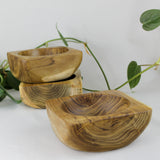 salvaged teak root bowl