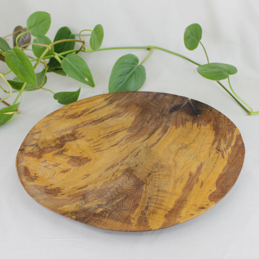 Round Teak Root Plate - Small