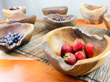 Teak root burly rice bowls with strawberries and blueberries