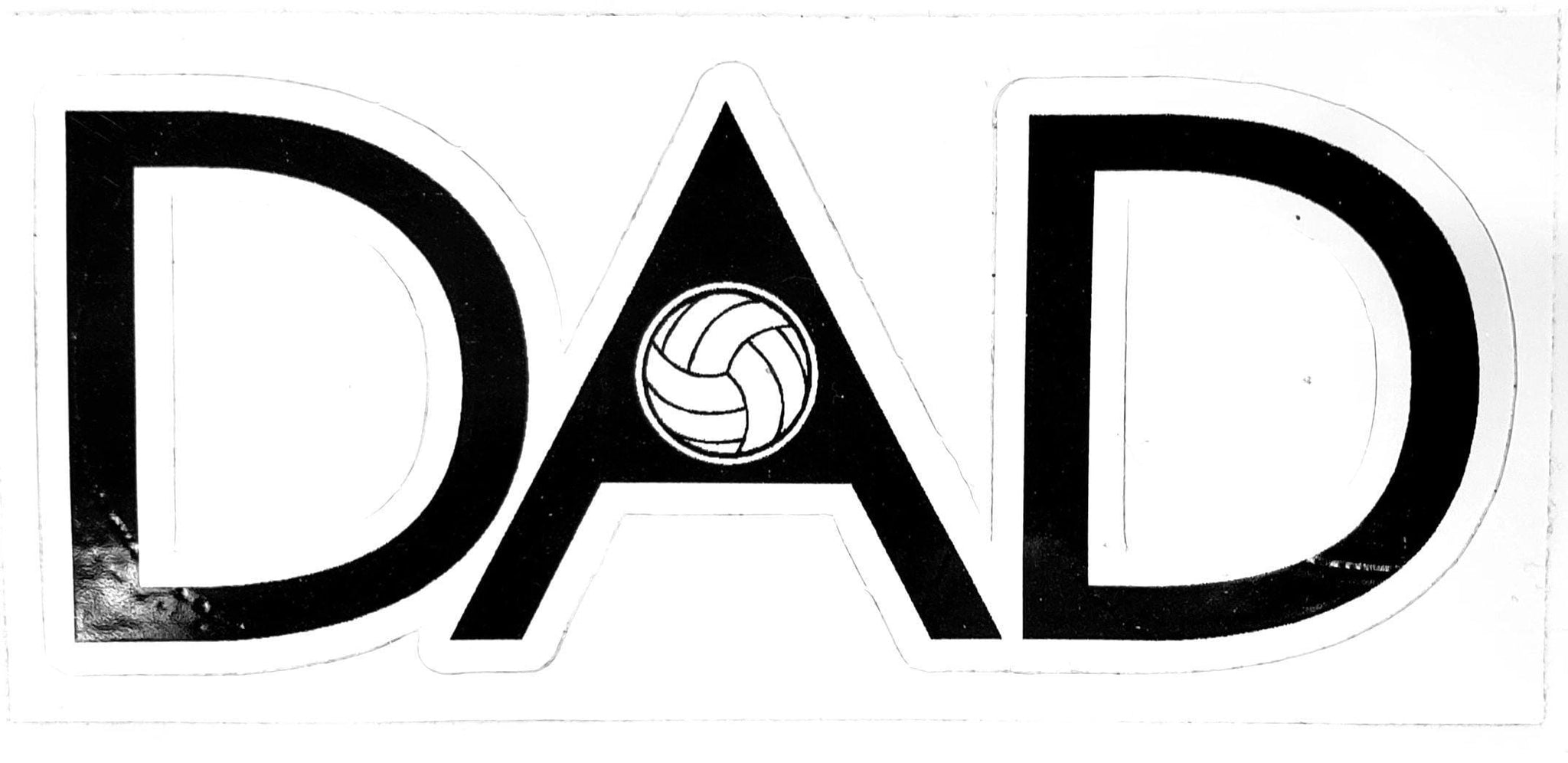 Dad Volleyball Sticker