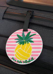 Luggage Tag Volleyball Pineapple