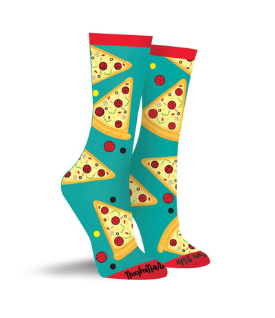Volleyball Pizza Crew Socks - Pura Vida Volleyball