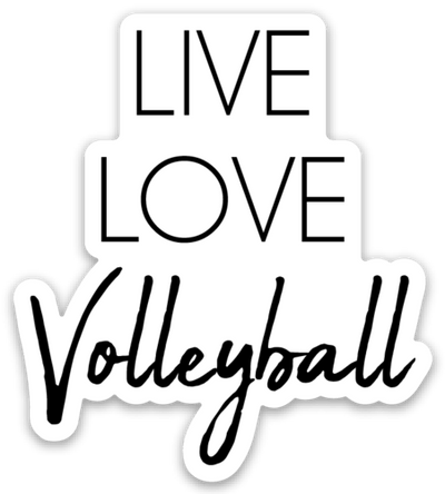 Live Love Volleyball Sticker - Pura Vida Volleyball