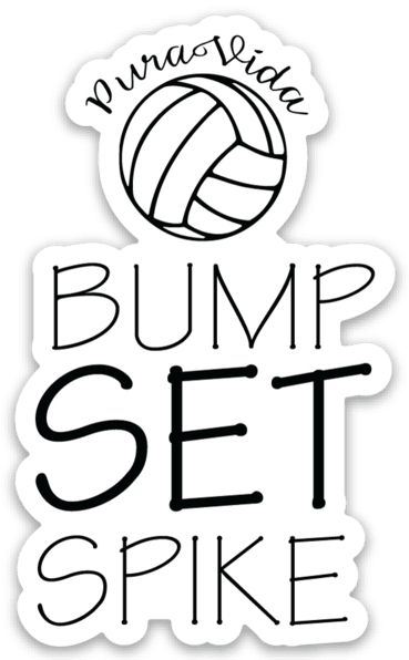 Pura Vida Volleyball Bump Set Spike Sticker - Pura Vida Volleyball
