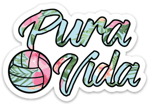 Volleyball Floral Pura Vida Sticker
