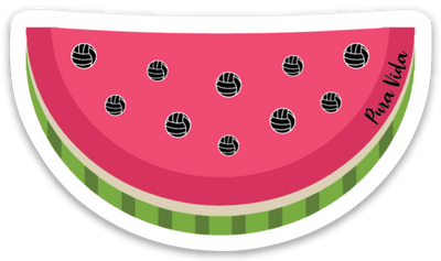 Volleyball Seeds Watermelon Sticker - Pura Vida Volleyball