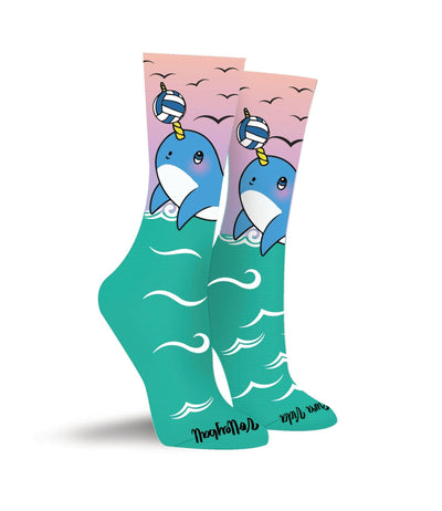 Volleyball Narwhal Crew Socks - Pura Vida Volleyball