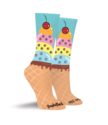 Ice Cream Sundae Volleyball Crew Socks - Pura Vida Volleyball