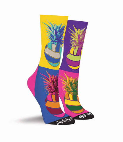 Pineapple Volleyball Crew Socks - Pura Vida Volleyball
