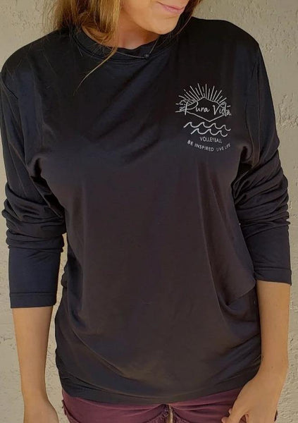 Long Sleeve Pura Vida Volleyball Dri-Fit - Black - Pura Vida Volleyball