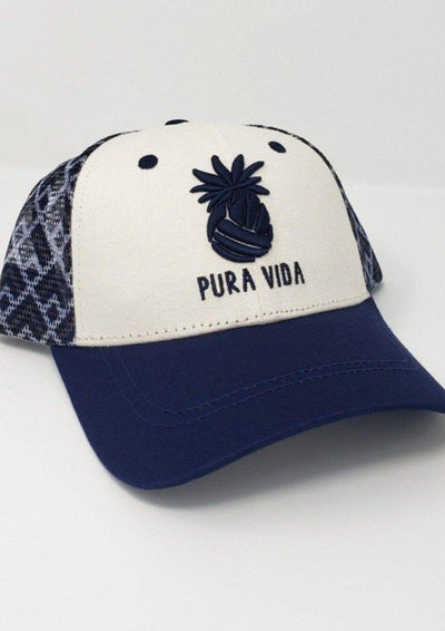 Pura Vida Volleyball Pineapple Hat Navy Blue & Gold - Pura Vida Volleyball