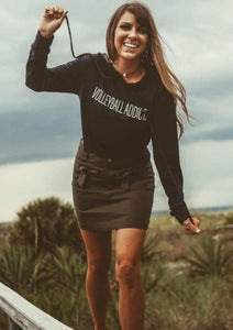 Volleyball Addict Crop Top Hoodie