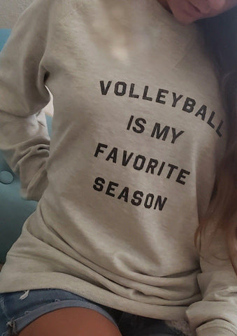 Volleyball Is My Favorite Season Crew Neck