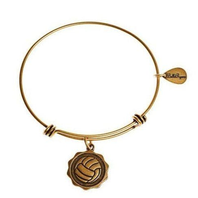 Vintage Gold Bangle Charm Bracelet Volleyball - Pura Vida Volleyball