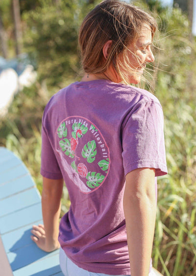Pura Vida Volleyball Flamingo Comfort Color T- Shirt - Pura Vida Volleyball