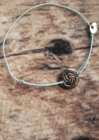Pura Vida Volleyball String Bracelet - Blue