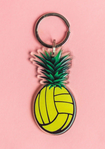Pineapple Volleyball Keychain