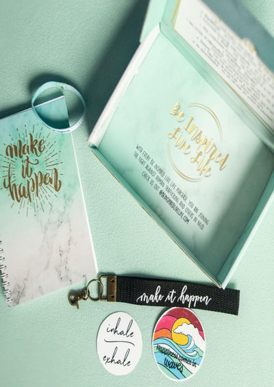 Make It Happen Box with 5 Fun Inspirational Gifts - Pura Vida Volleyball