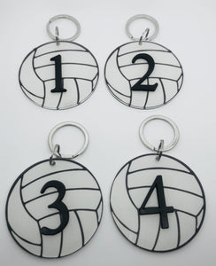 Numbered Volleyball Keychain - Pura Vida Volleyball