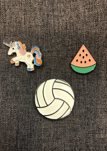 Pura Vida Volleyball Pin Package: Volleyball, Watermelon, Unicorn - Pura Vida Volleyball