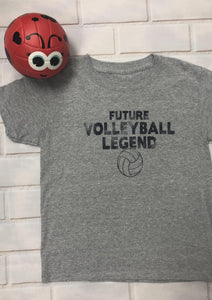 Future Volleyball Legend Kid's Shirt Youth **GRAY SHIRT** - Pura Vida Volleyball