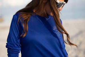 Long Sleeve Pura Vida Volleyball Dri-Fit - Royal Blue