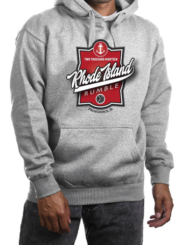 Rhode Island Rumble Grey Hooded Sweatshirt