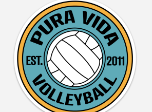 Pura Vida Volleyball Magnet - Pura Vida Volleyball