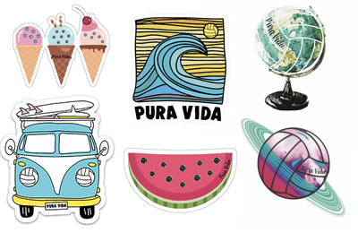 Volleyball Sticker Pack - Pura Vida Volleyball