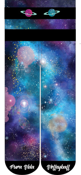 Galaxy Volleyball Crew Socks