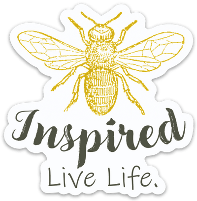 Bee Inspired Live Life Magnet - Pura Vida Volleyball