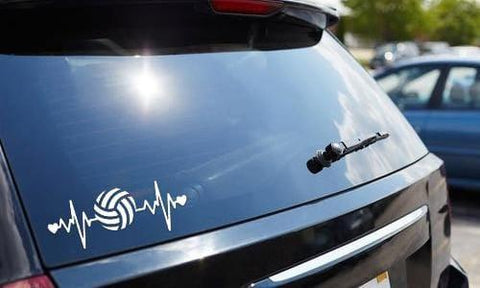 Volleyball Heartbeat Vinyl Decal