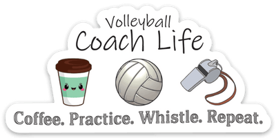 Volleyball Coach Sticker - Pura Vida Volleyball