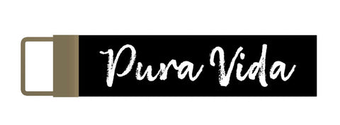 Pura Vida Canvas Key Fob Keychain - Pura Vida Volleyball