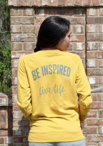 Be Inspired Live Life Crew Neck Sweatshirt - Pura Vida Volleyball