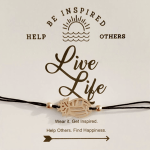 Be Inspired Live Life Pineapple VB String Bracelet Volleyball - Pura Vida Volleyball