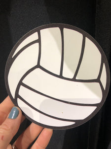 "Volleyball Black and White Design Magnet 4"" - Pura Vida Volleyball"