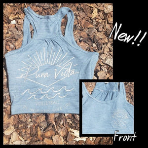 Pura Vida Volleyball Tank Top - Light Blue
