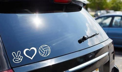 Peace, Love, & Volleyball Vinyl Decal